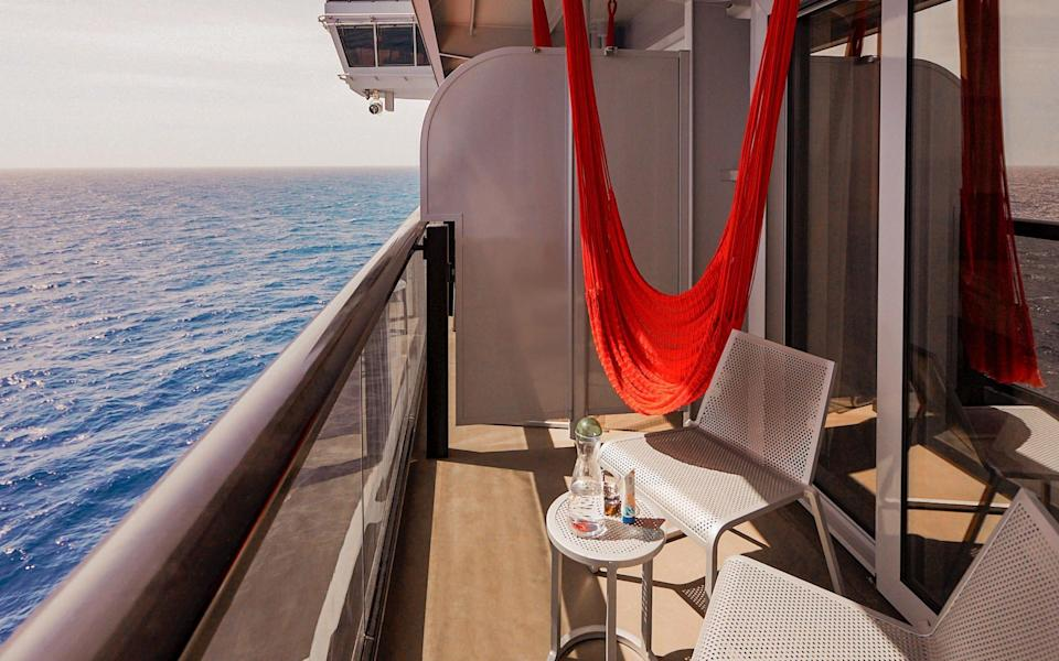 Sit out on your cabin's terrace
