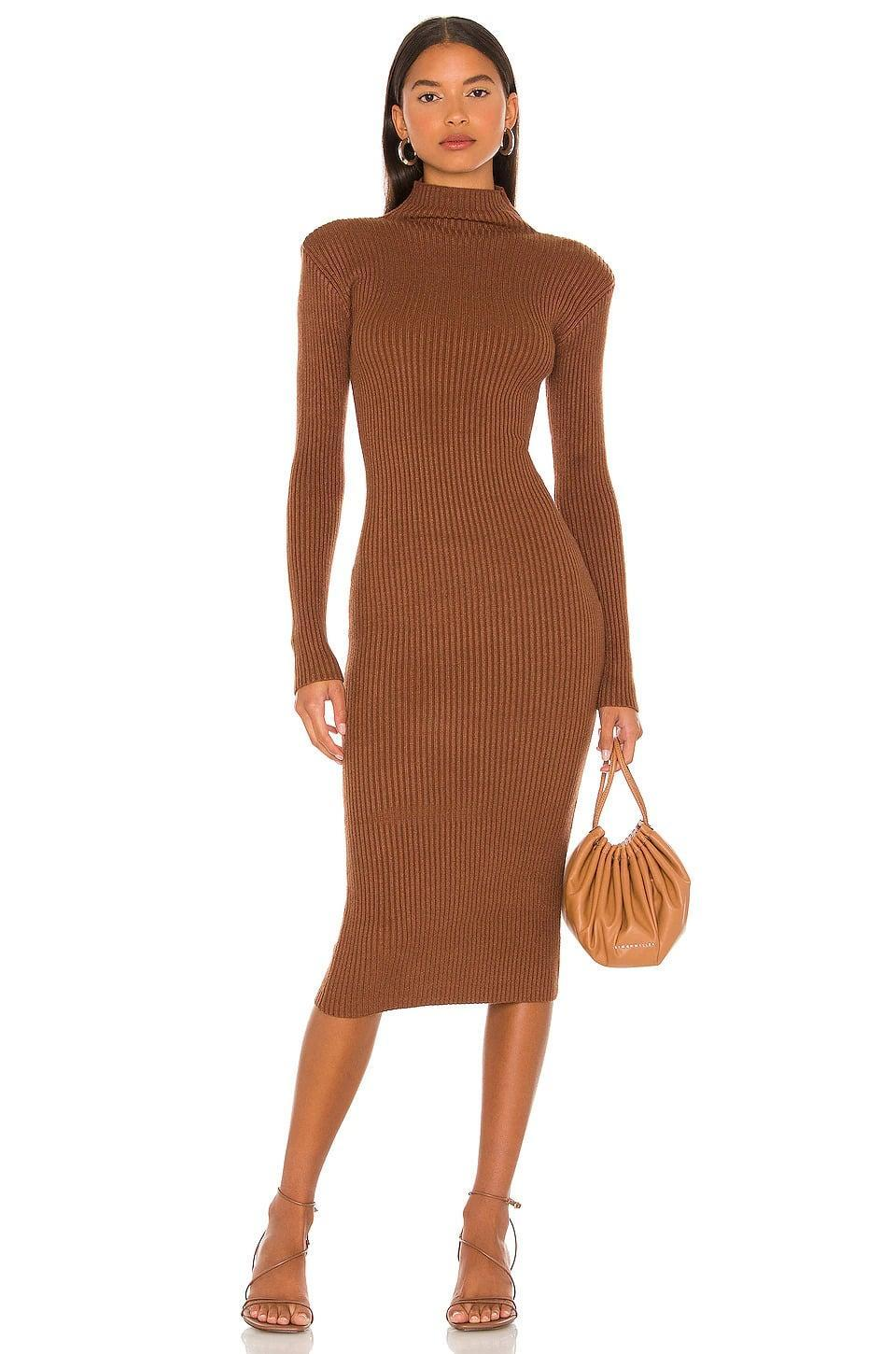 <p>The <span>ASTR the Label Abilene Sweater Dress in Nutmeg</span> ($98) has light padding on the shoulders for a chic structured look. The color is just chef's kiss perfection!</p>