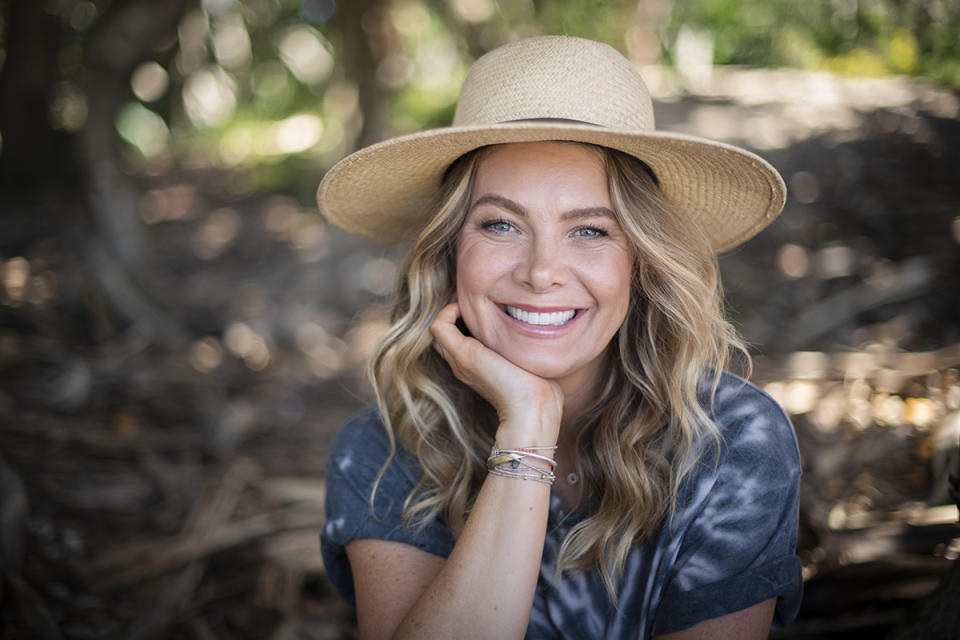 Natalie Bassingthwaighte wearing a broad-brimmed hat on Who Do You Think You Are? 2021. Photo: SBS (supplied).
