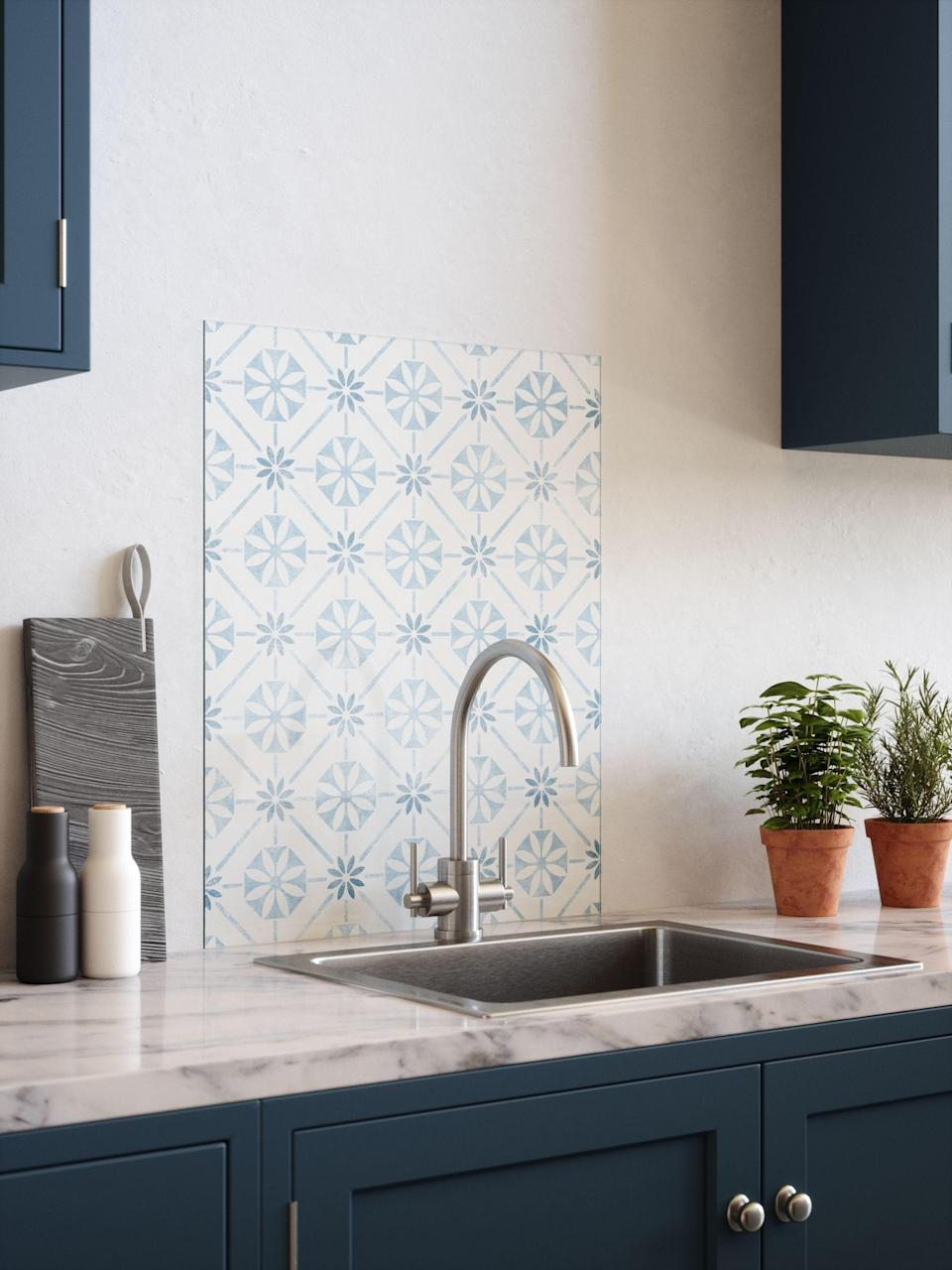 """<p><strong>Say hello to splashback.co.uk, the newest member of the <a href=""""https://www.housebeautiful.com/uk/house-beautiful-collections/"""" rel=""""nofollow noopener"""" target=""""_blank"""" data-ylk=""""slk:House Beautiful Modern Living Collections"""" class=""""link rapid-noclick-resp"""">House Beautiful Modern Living Collections</a>.</strong></p><p>We've teamed up with <a href=""""http://splashback.co.uk/"""" rel=""""nofollow noopener"""" target=""""_blank"""" data-ylk=""""slk:Splashback.co.uk"""" class=""""link rapid-noclick-resp"""">Splashback.co.uk</a>, the home of contemporary, colourful, easy-to-fit backdrops for kitchens and bathrooms, to bring you our very own range of splashbacks. </p><p>Ask any stylist, and they'll tell you that every room needs a focal point, and that includes the <a href=""""https://www.housebeautiful.com/uk/decorate/kitchen/g423/best-kitchen-design-trends/"""" rel=""""nofollow noopener"""" target=""""_blank"""" data-ylk=""""slk:kitchen"""" class=""""link rapid-noclick-resp"""">kitchen</a>. And thanks to the innovative glass backdrop range from House Beautiful at Splashback.co.uk, that style statement has never been easier to achieve.</p><p>A brilliant alternative to tiles or paint, these chic splashbacks are crafted from 6mm toughened glass for strength, durability and easy cleanability. Heat resistant, they are perfect for use behind hobs, ranges and sinks, protecting walls from splashes, stains and steam, all while looking stunning.</p><p>Every splashback in the range is quick and easy to install – simply peel off the super-strong, self-adhesive backing before sticking to the wall and seal with clear silicone. It's as easy as that! </p><p>Explore the patterned range below... </p>"""