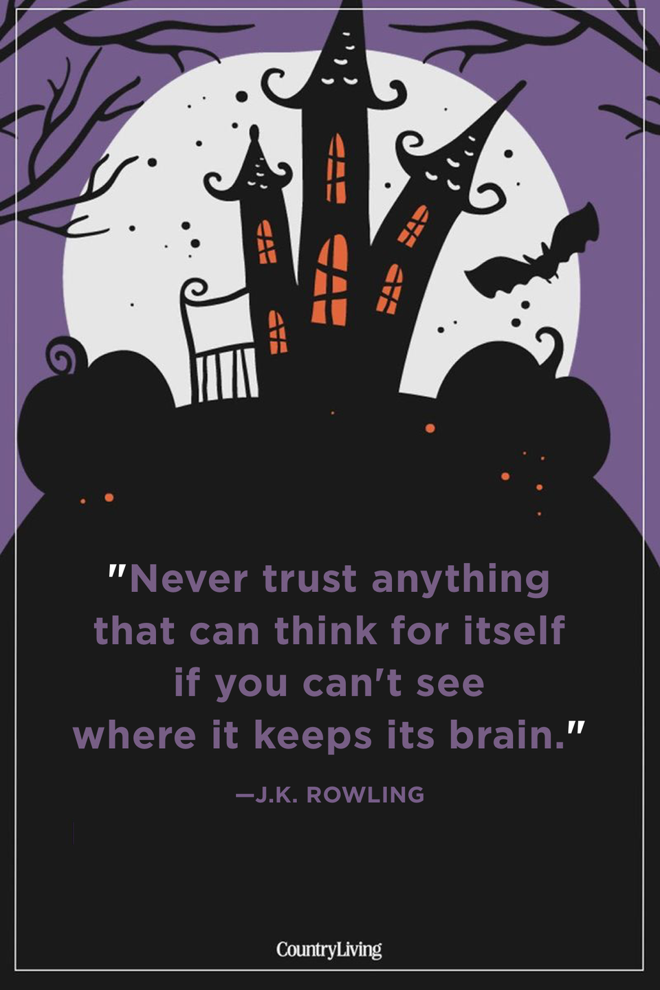 """<p>""""Never trust anything that can think for itself if you can't see where it keeps its brain.""""</p>"""