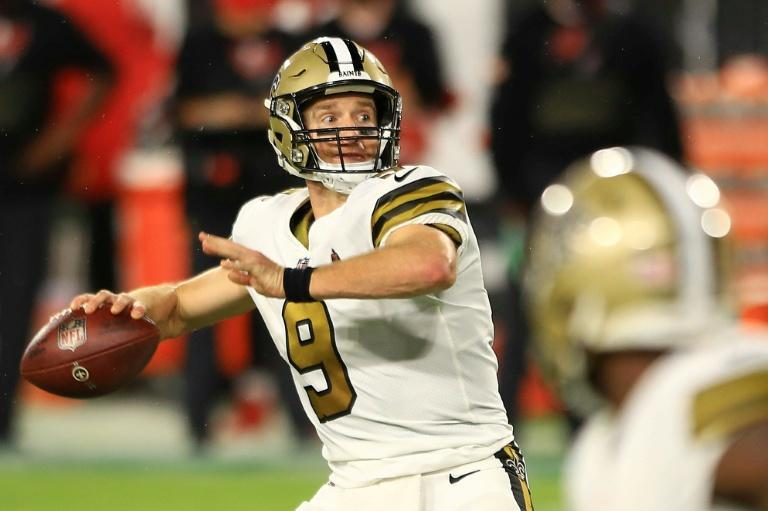 Drew Brees is available for the New Orleans Saints after a month-long injury layoff