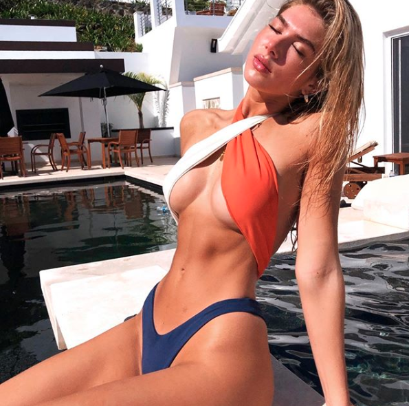 The underboob look is apparently headed to beaches this Summer. Photo: Instagram/blaiswim