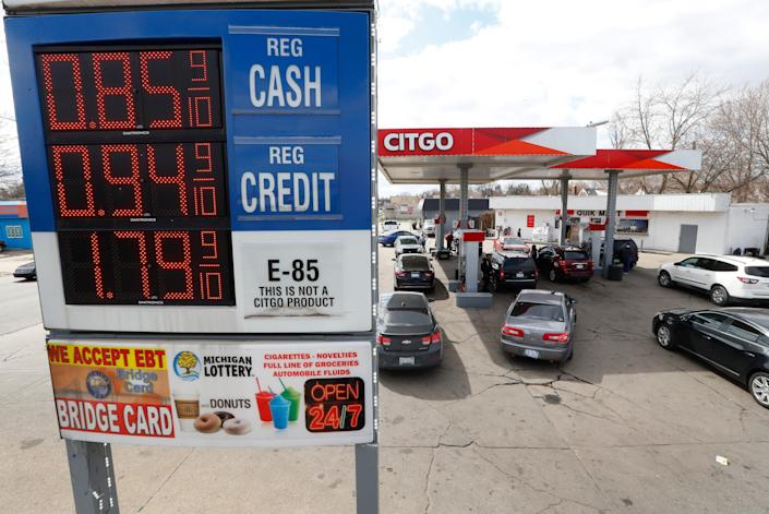 Gas prices are falling because commuters, vacationers and road trippers are doing none of those things due to the coronavirus.
