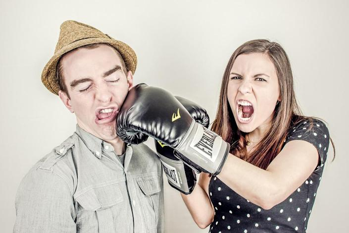 ai app couples fighting man couple people woman