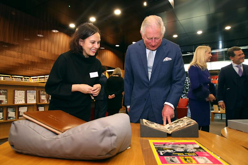 <p>The heir to the throne, on a visit to the British Film Institute, said the antics of the bungling Inspector Clouseau raised his spirits.</p>