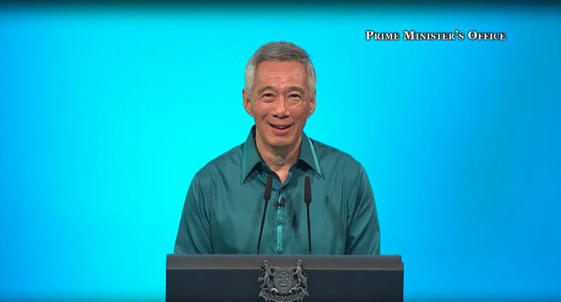 Prime Minister Lee Hsien Loong speaking at the 2018 National Day Rally. (File photo: YouTube/Prime Minister's Office)