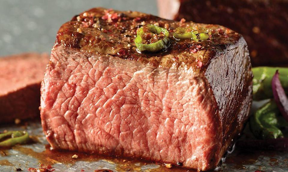 """<p><strong>Omaha Steaks</strong></p><p>omahasteaks.com</p><p><strong>$65.99</strong></p><p><a href=""""https://go.redirectingat.com?id=74968X1596630&url=https%3A%2F%2Fwww.omahasteaks.com%2Fproduct%2FAmazing-Griller%2527s-Feast-48279&sref=https%3A%2F%2Fwww.countryliving.com%2Fshopping%2Fg5104%2Fvalentines-day-gifts-for-him%2F"""" rel=""""nofollow noopener"""" target=""""_blank"""" data-ylk=""""slk:Shop Now"""" class=""""link rapid-noclick-resp"""">Shop Now</a></p><p>Make your meat-loving man happy with a griller's feast that includes two top sirloins, four boneless chicken breasts, six burgers, four gourmet jumbo franks, and sides.</p>"""
