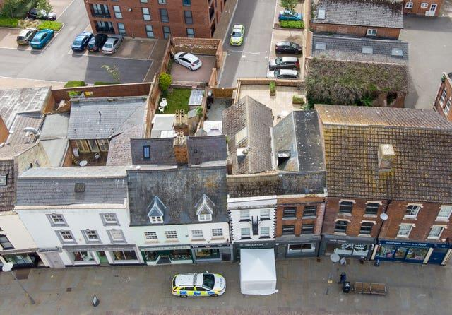 Police activity at The Clean Plate cafe in Southgate Street, Gloucester
