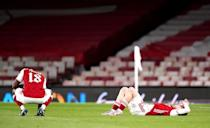 Arsenal players react to being knocked out