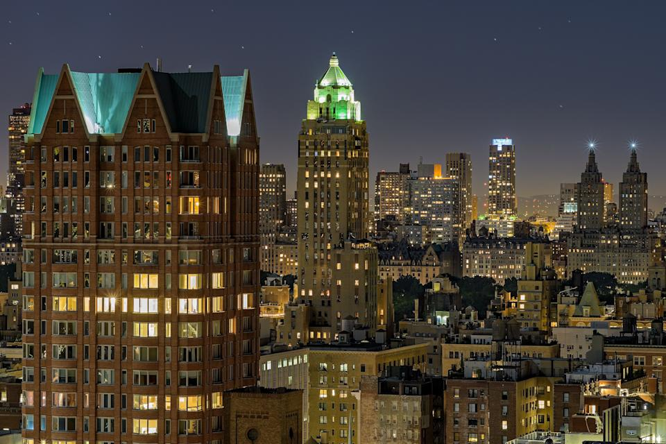 The Carlyle, lighting up Manhattan. (Getty Images)