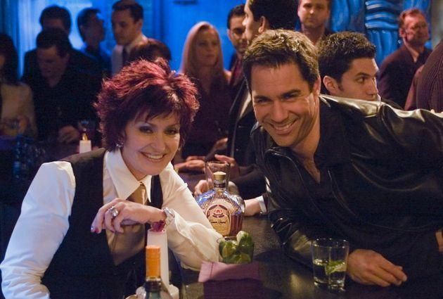 Sharon Osbourne on the set of Will & Grace (Photo: NBC via Getty Images)