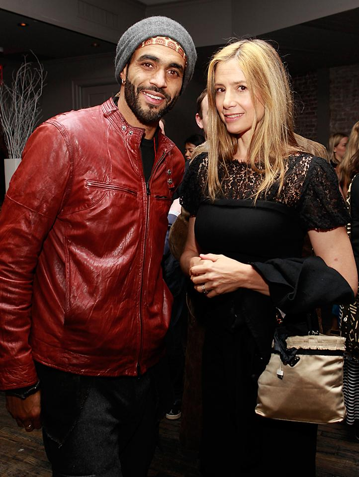 "NEW YORK - APRIL 20:  Producer Sol Guy and actress Mira Sorvino attend the afterparty for HBO's Inside Out: ""The People's Art Project"" premiere at Tribeca Film Festival on April 20, 2013 in New York City.  (Photo by Mark Von Holden/Getty Images for HBO)"