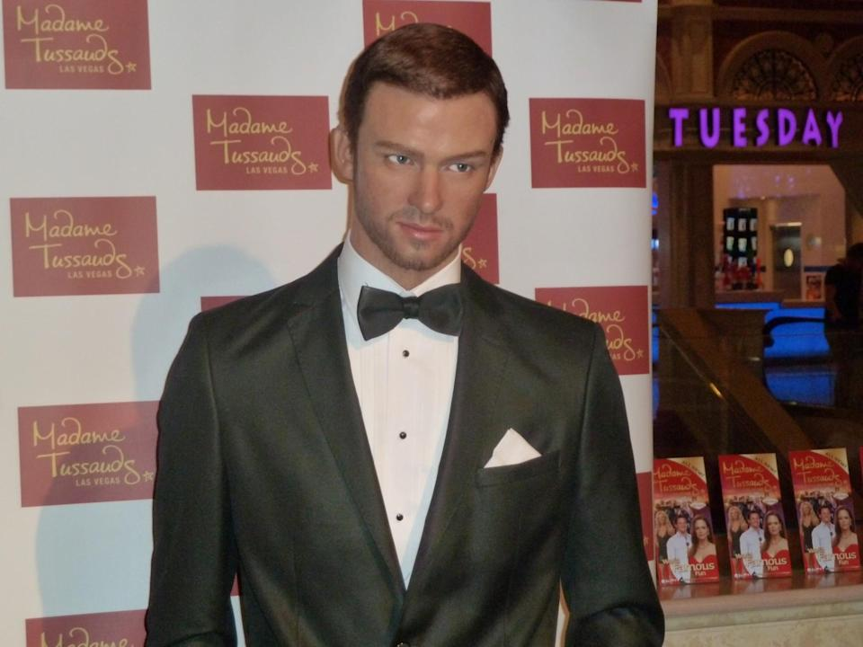 <p>If we were Justin Timberlake, we wouldn't be too flattered by this offering at Madame Tussauds Las Vegas. Copyright: [Splash] </p>