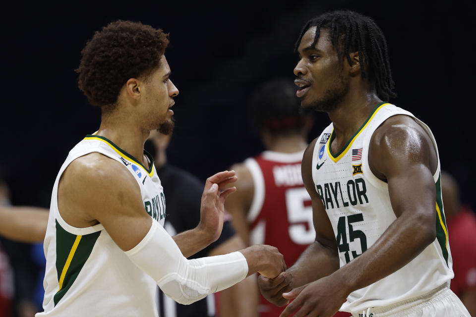 Davion Mitchell and MaCio Teague ended Baylor's long Final Four drought. (Photo by Jamie Squire/Getty Images)