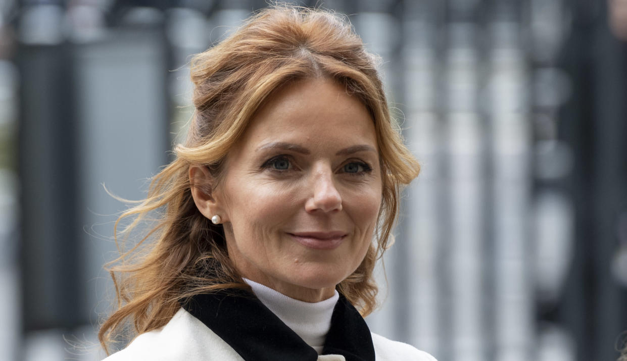 LONDON, ENGLAND - MARCH 09: Geri Horner attends the Commonwealth Day Service 2020 at Westminster Abbey on March 9, 2020 in London, England. (Photo by Mark Cuthbert/UK Press via Getty Images)
