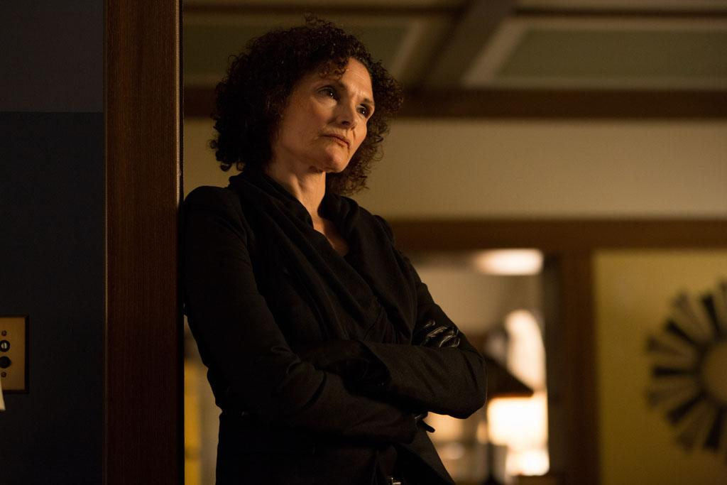 "Mary Elizabeth Mastrantonio as Kelly Burkhardt in the ""Grimm"" Season 2 premiere, ""Bad Teeth."""