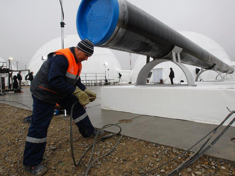 Gazprom starts work on Europe gas pipeline