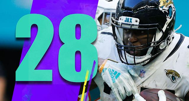 <p>Leonard Fournette's last three games: 43 carries, 125 yards, 2.9-yard average. He has a 3.3-yard average for the season. His last 100-yard rushing game in the regular season was Dec. 10, 2017. Jacksonville has to regret drafting him so high. (Leonard Fournette) </p>