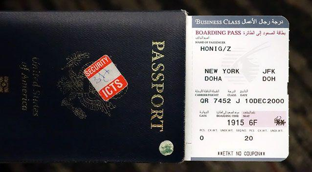 The excited journalist had earlier posted onto social media a picture of his boarding pass. Source: Supplied.