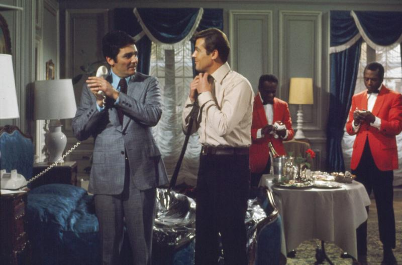 David with co-star Roger Moore in Live And Let Die (Photo: Danjaq/Eon/Ua/Kobal/Shutterstock)