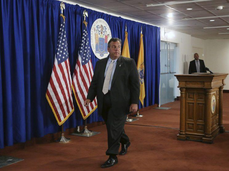 New Jersey Gov. Chris Christie walks from the podium following a news conference Monday, July 3, 2017, in Trenton, N.J. Christie said late Monday he'll sign a budget deal and end a government shutdown that had closed state parks and beaches to the public. (Photo: Mel Evans/AP)