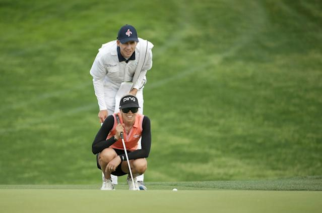 Airya Jutanugarn is parting with her caddie. She's hired Daniel Taylor, Pernilla Lindberg's fiance and former caddie.