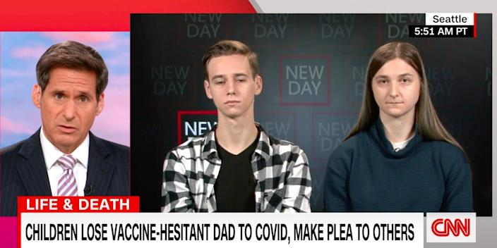 """Katie and Evan Lane speaking to CNN's """"New Day."""""""