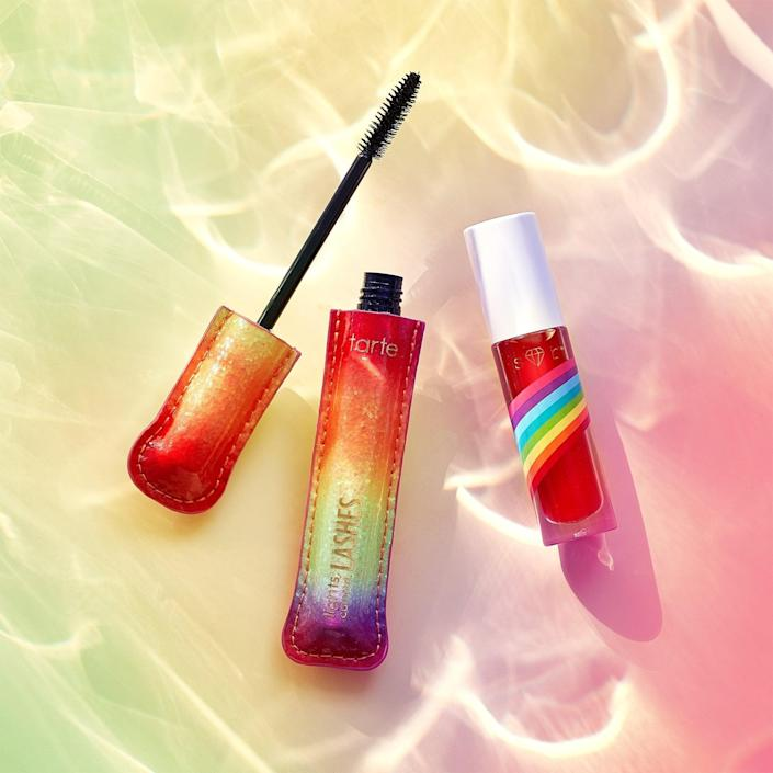 <p>Get your lips and lashes on point for the summer with the <span>Tarte Cosmetics Limited-Edition Pride Sugar Rush Lip Sip</span> ($15) and <span>Tarte Cosmetics Limited-Edition Lights, Camera, Lashes 4-in-1 Mascara</span> ($23). Tarte Cosmetics made a $100,000 donation to the It Gets Better Projet.</p>
