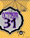 """<p>Are the kiddos in your household (or hey, the <em>adults</em>!) so excited for Halloween that they count down the days? This free printable """"October 31"""" sign keeps the excitement top of mind. Two additional free options here include an on-theme word collage and a sign with the message, """"Happy as a witch in a broom factory."""" These are all made to print easily on standard paper and pop into an 8-by-10-inch frame for instant (cheap) decor.</p><p><em>Get the printables at <a href=""""https://seevanessacraft.com/2016/09/halloween-3-free-spooky-printables/"""" rel=""""nofollow noopener"""" target=""""_blank"""" data-ylk=""""slk:See Vanessa Craft"""" class=""""link rapid-noclick-resp"""">See Vanessa Craft</a></em></p>"""