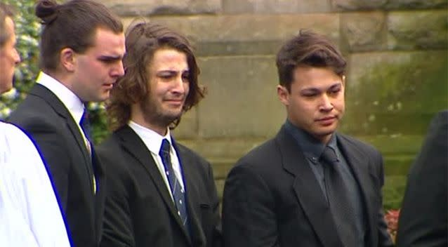 The chapel was the same place Stuart's older brother Thomas was farewelled four years ago. Photo: 7 News