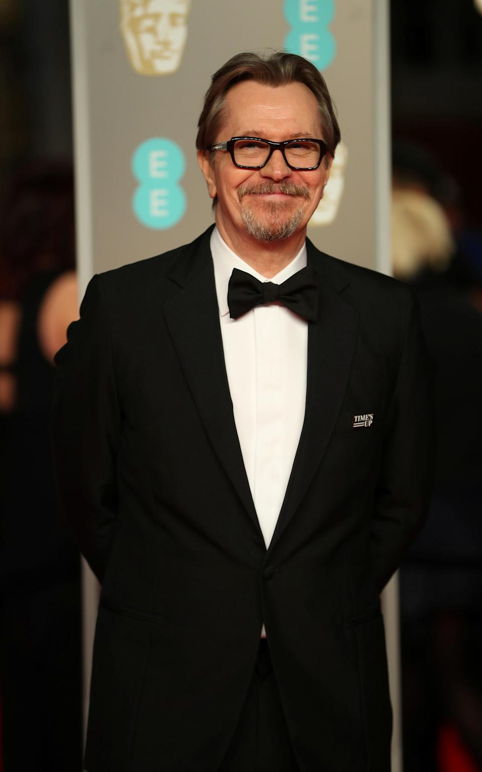 Gary Oldman shows his support for the #TimesUp campaign.