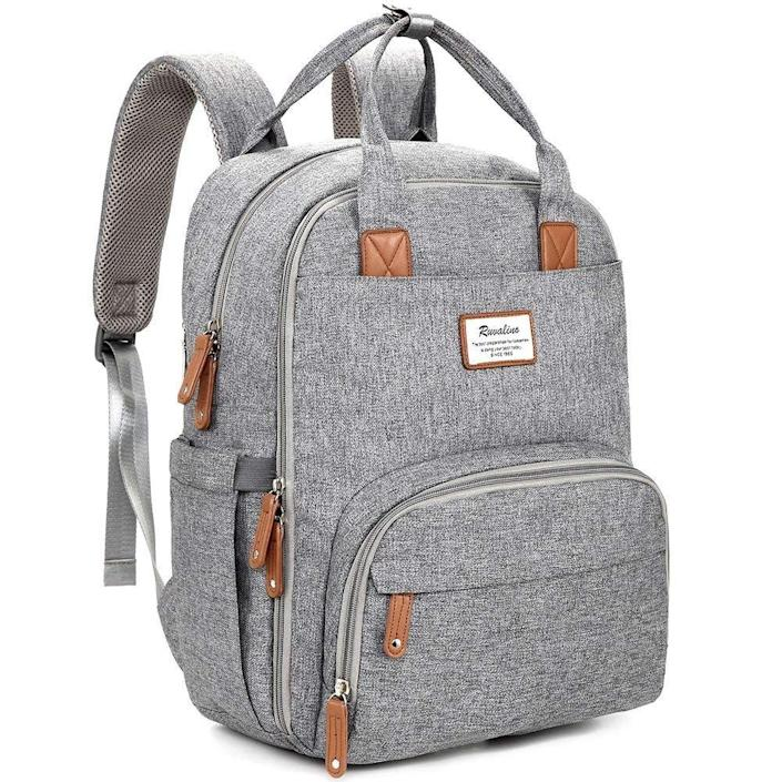 <p>There's tons of storage space in this <span>Diaper Bag Backpack</span> ($40, originally $70).</p>