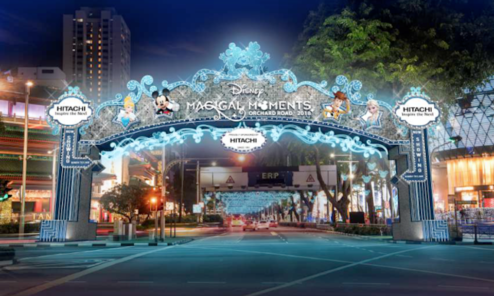 Disney-theme 2018 Christmas light-up on Orchard Road (PHOTO: Orchard Road Business Association)