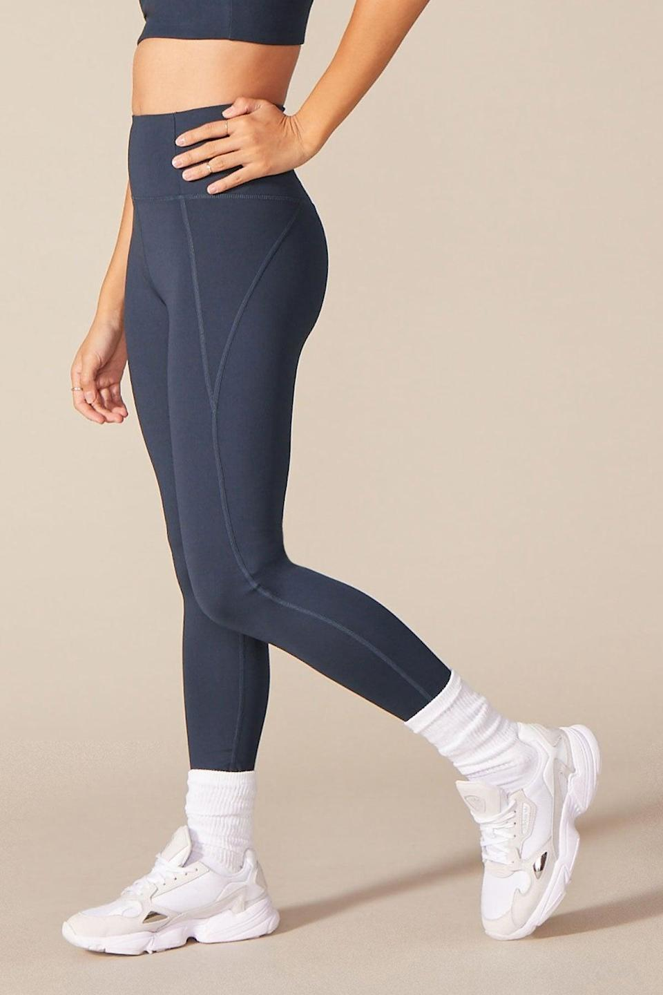 <p>These <span>Girlfriend Collective High Waist Full Length Leggings</span> ($68) are made from recycled water bottles, so they help the planet and your workout. Plus, almost every piece in the collection has a matching sports bra, so if you love a good set, this is the one to shop. The high waist ensures these will stay put through your toughest workouts.</p>