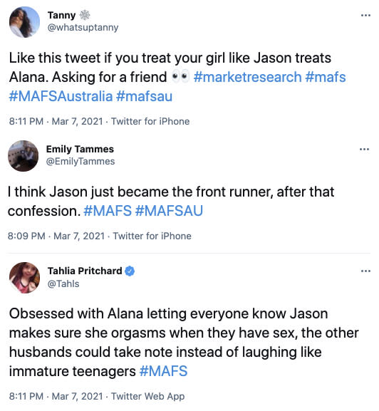 Many Twitter users wished they could date Jason themselves. Photo: Twitter