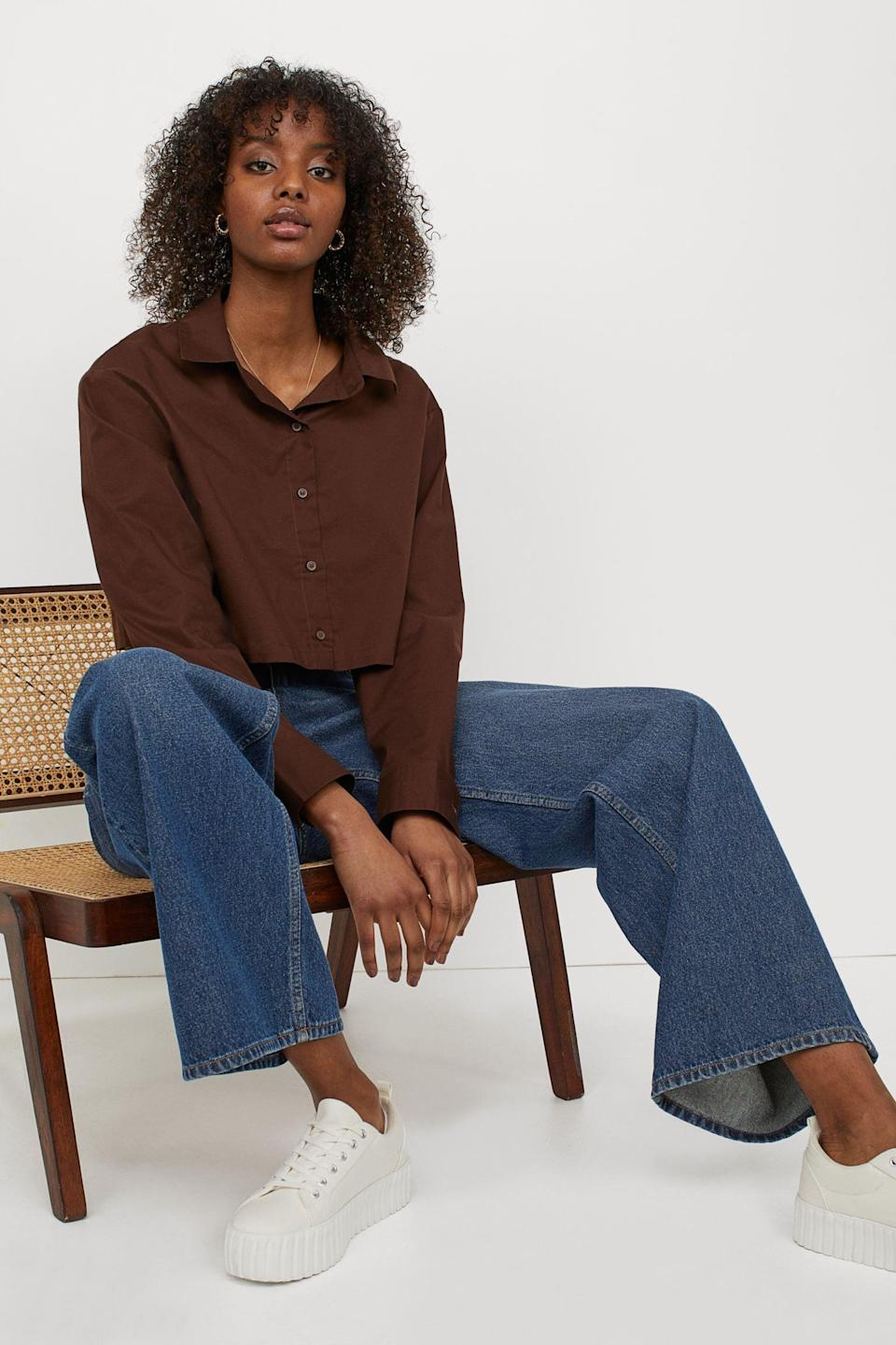 <p>This <span>Cotton Crop Shirt</span> ($13) will be your go-to on chillier summer days.</p>