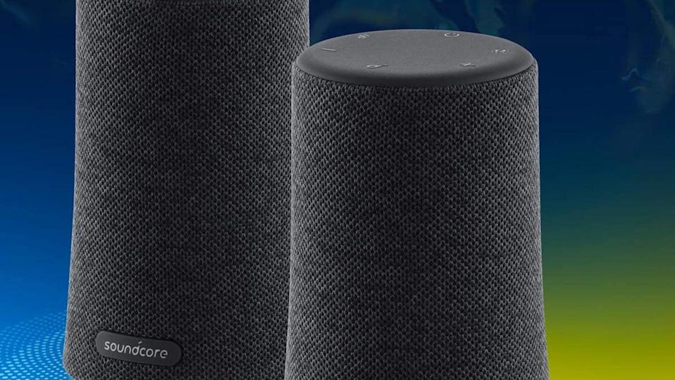The Anker Soundcore Flare Mini wins raves fromAmazon shoppers for its balanced sound quality and eye-popping design.