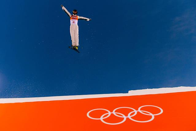 <p>Danielle Scott of Australia practices during Freestyle Skiing Aerials training on day one of the PyeongChang 2018 Winter Olympic Games at Phoenix Snow Park on February 10, 2018 in Pyeongchang-gun, South Korea. (Photo by David Ramos/Getty Images) </p>