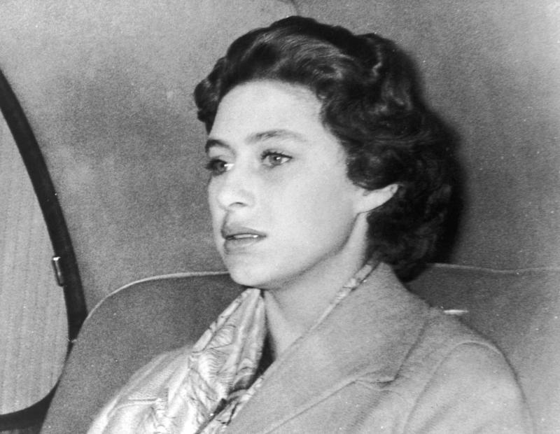 400806 37: (FILE PHOTO) Princess Margaret returns to Clarence House October 17, 1955 after a weekend in the country where Group Captain Peter Townsend was also a guest. The decision not to marry Townsend was announced October 31, 1955. Buckingham Palace announced that Princess Margaret died peacefully in her sleep at 1:30AM EST at the King Edward VII Hospital February 9, 2002 in London. (Photo by Getty Images)