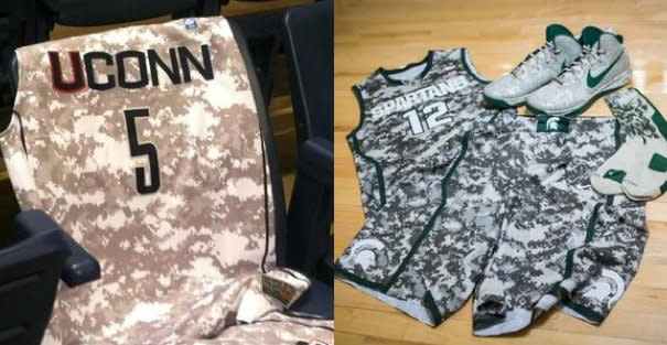 buy popular 0f4ad 7fe85 Eight teams will unveil new camouflage jerseys for their ...