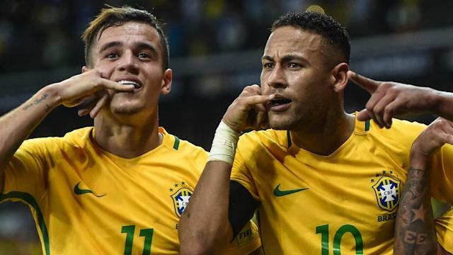 Having Neymar in the Brazil team makes life much easier for the other players in Tite's side, according to Philippe Coutinho.
