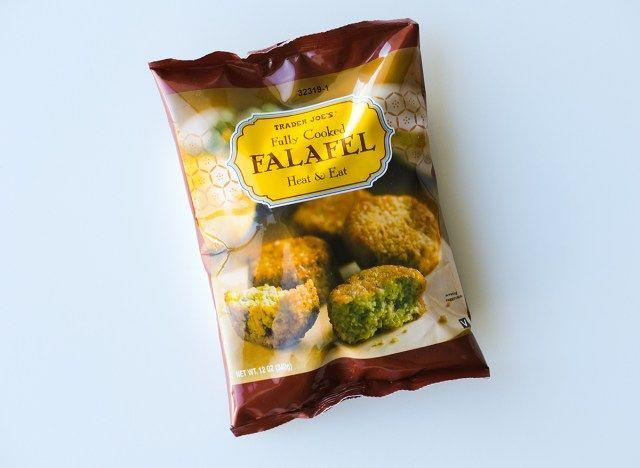 """<p>For vegetarians looking for a fast and satisfying dinner, these Fully Cooked Falafels are great, at least when it comes to taste. """"I feel like you'd be better off getting your falafel fix from a street vendor,"""" Jamie Hickey, personal trainer and nutritionist of <a href=""""https://truismfitness.com/"""" rel=""""nofollow noopener"""" target=""""_blank"""" data-ylk=""""slk:Truism Fitness"""" class=""""link rapid-noclick-resp"""">Truism Fitness</a>, tells Delish. """"The fat is a killer here, with 29% of your daily recommended value of total fat, and 15% of your daily value of saturated fats. But even more despicable is the amount of sodium. These falafels pack 490 mg per serving, which is an astounding 20% of your recommended daily value. Oh, and did I mention that the serving size is only three pieces?"""" Let's be real: who's going to stop at three of these?</p>"""