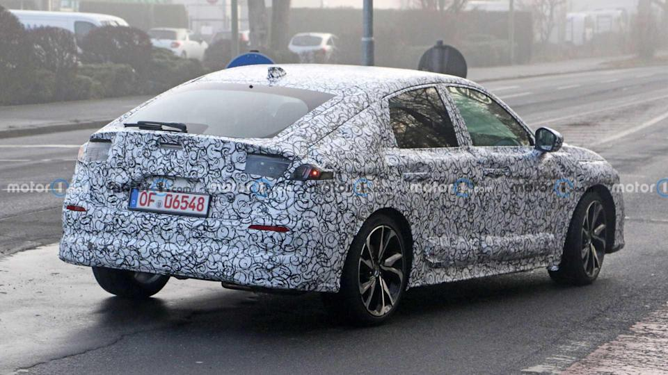 Honda Civic Hatchback Spy Photos Rear Fender