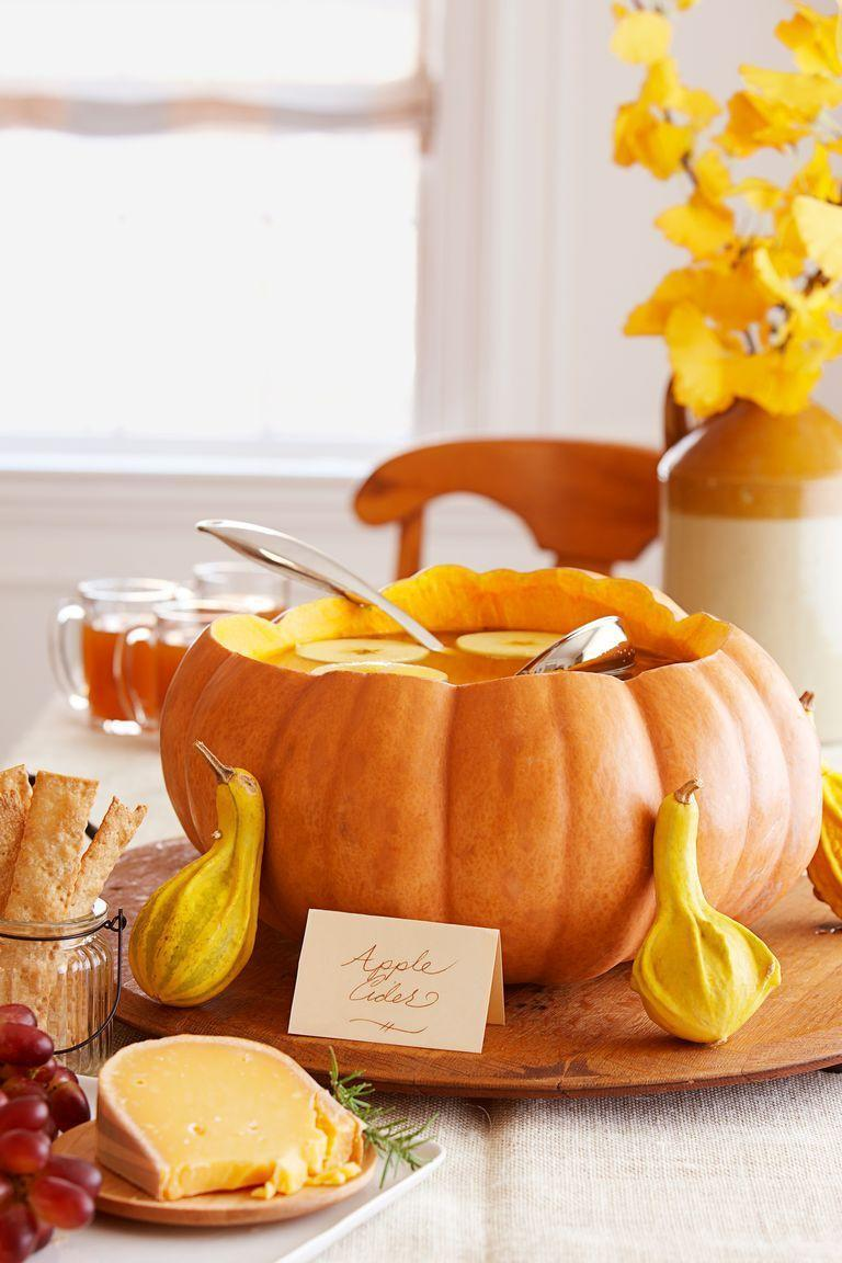 <p>A hollowed-out pumpkin can easily become a punch bowl—and an undeniable conversation starter. </p>