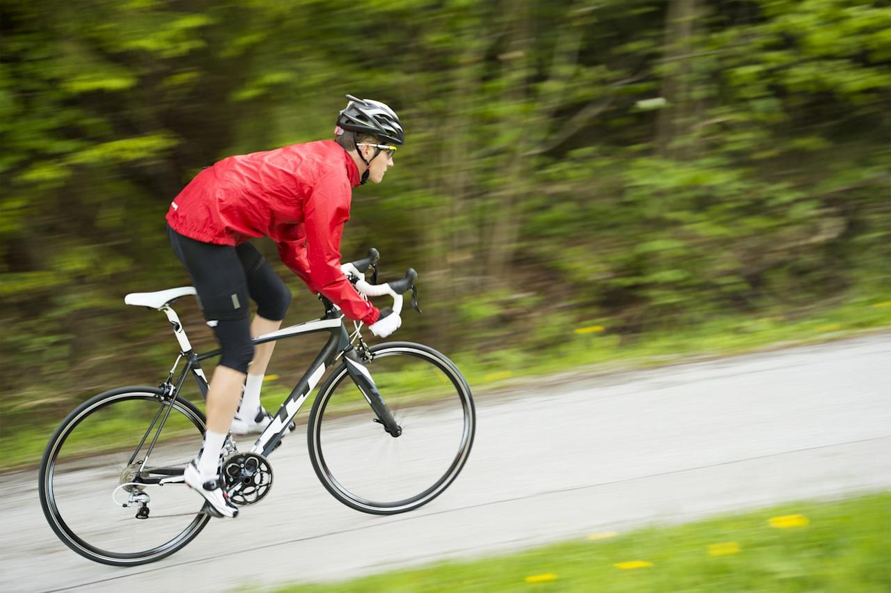 "<p>Sprinters hone cadences upwards of 200 RPMs, which is imperative for maintaining your drive on the pedals at high speed. For this exercise, start on a steep downhill or from a moderately fast pace on the flats. Jump into your sprint by standing up from the saddle, and hold the highest cadence possible for 5 to 8 seconds. Aim for 10 efforts per session. (You can measure your power and RPMs with a power meter, like <a href=""https://www.bicycling.com/bikes-gear/a20049593/specialized-power-cranks/"" target=""_blank"">this new one from Specialized</a>.)  </p>"