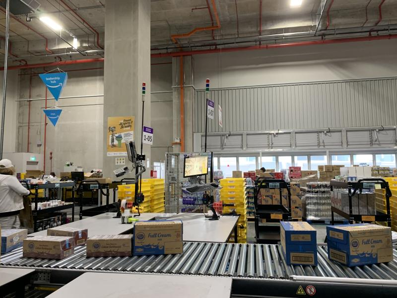 Amazon Singapore's fulfilment center. (PHOTO: Reta Lee/Yahoo Lifestyle Singapore)
