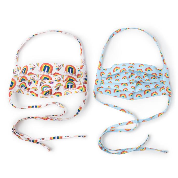 Set of 2 Rainbow Face Coverings | COVID-19 Masks