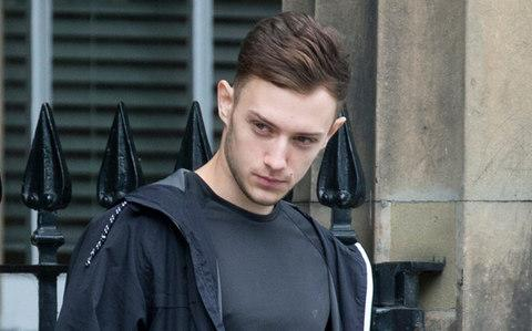 Andrew Murray leaves court after pleading guilty to stalking - Credit: Graeme Hart