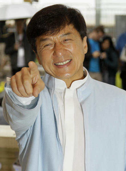Director Jackie Chan poses during a photo call for Chinese Zodiac at the 65th international film festival, in Cannes, southern France, Friday, May 18, 2012. (AP Photo/Francois Mori)